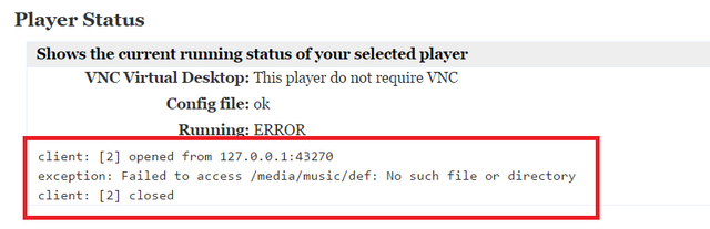 Player Status Trouble Shooting