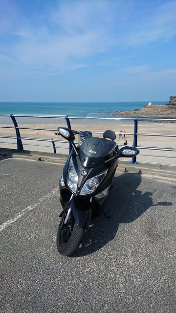 Maxi Scooter at Porthreath Beach
