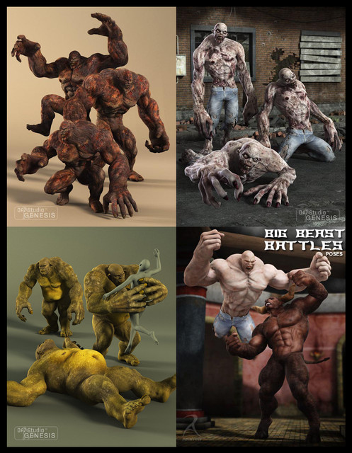 DAZ Monstrosities Pose Collection [DIM]