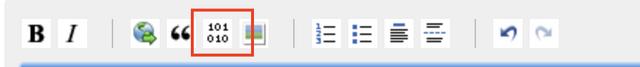 Formatting bar