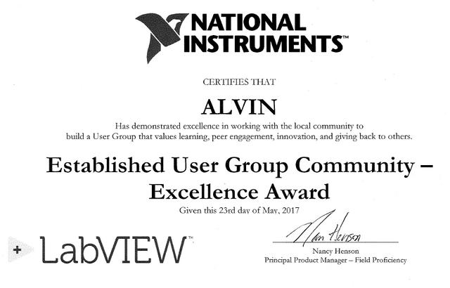 ALVIN award 2017