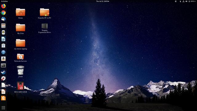 July 2018 desktop