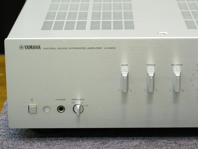 Yamaha AS-300 Integrated Stereo Amplifier, Speaker amp 01-26-19-f