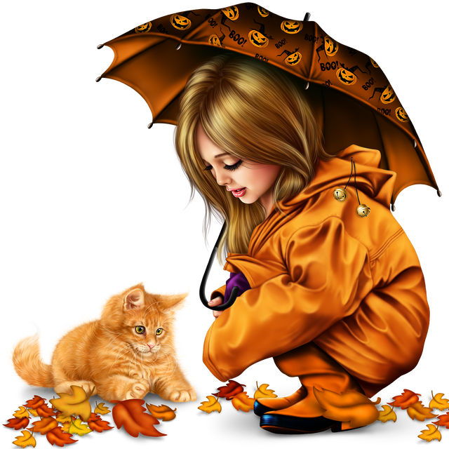 little-girl-in-raincoat-with-a-kitty-png-277e6166edb9e82051.png