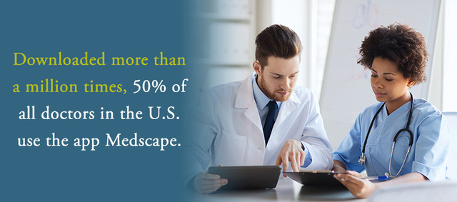 Downloaded more than a million times, 50 percent of all doctors in the U.S. use the app.