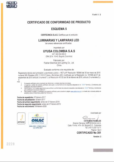 CERTIFICADO DE LED CERTECNICA 1 copia