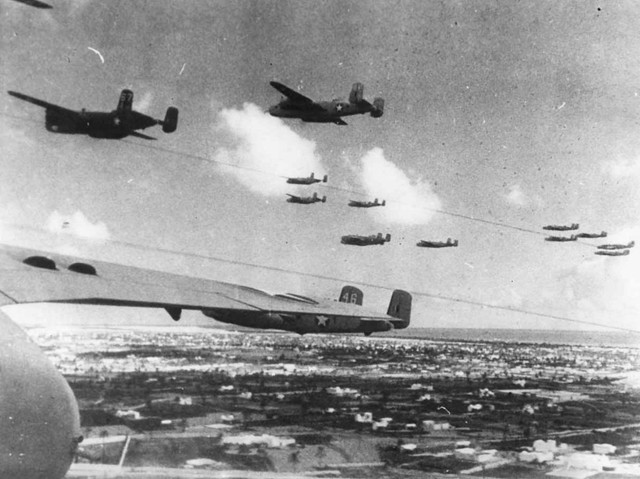 B 25 Mitchell 12 BG formation Tunisia 1943
