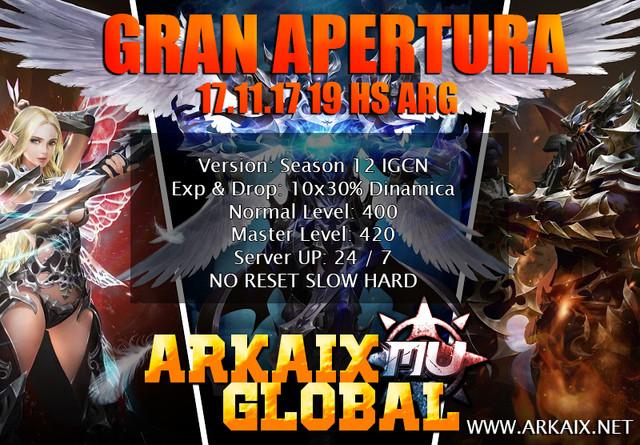 ArkaixMuOnline [x10] No-Reset [x50] Rebirth SXII Apertura