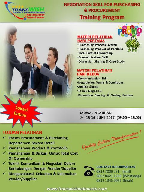 Negotiation_skill_For_Purchasing_Procurement_TransWISh Indonesia-Promo Training Batam