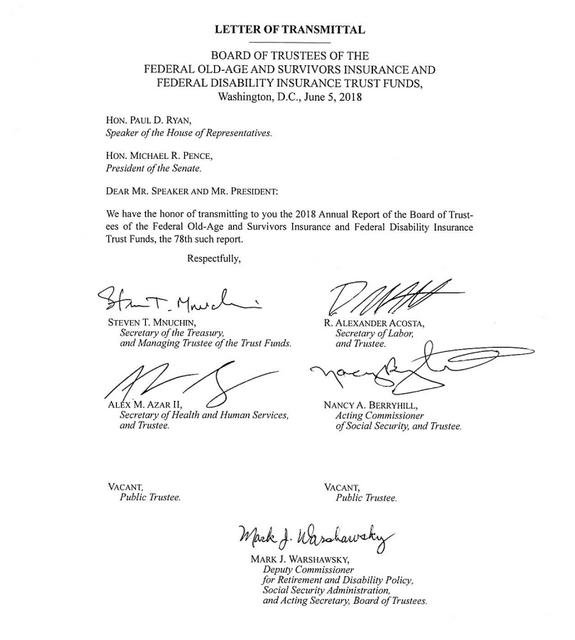 Social Security transmittal letter