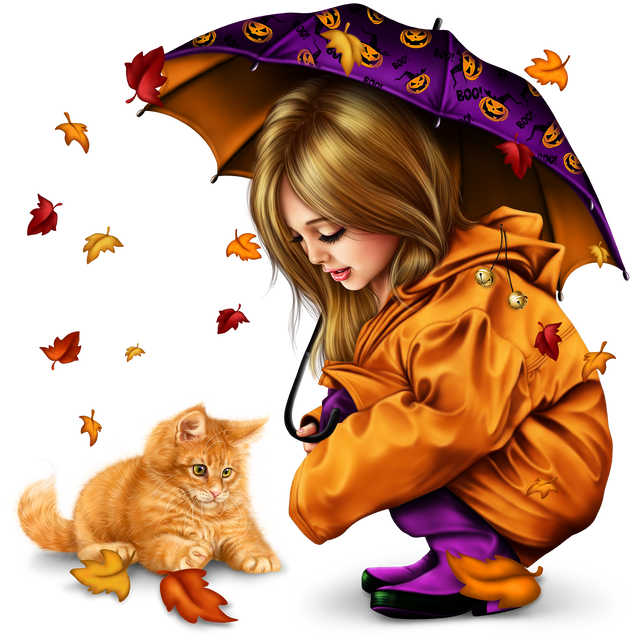 little-girl-in-raincoat-with-a-kitty-png-258d7c2f1673f9eea8.png