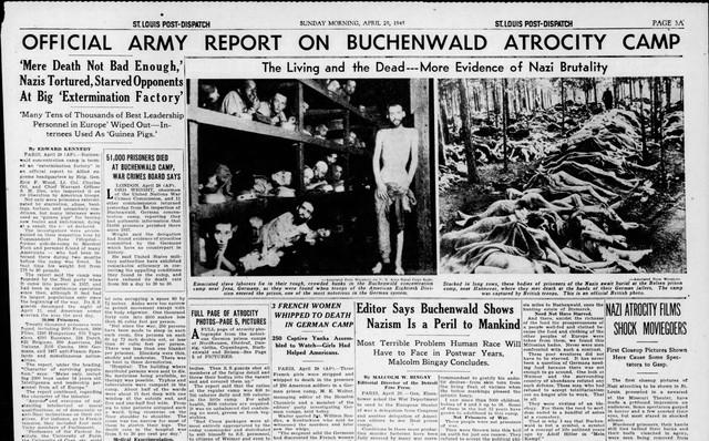 St Louis Post Dispatch April 29 1945