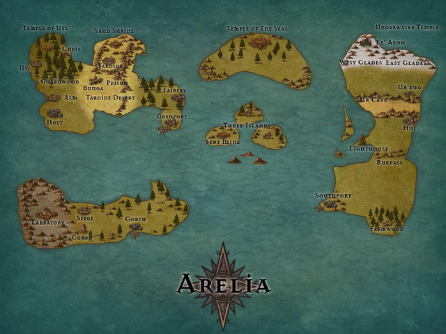 Arelia World Map