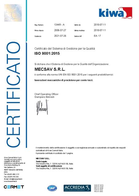 MECSAV_Certificato