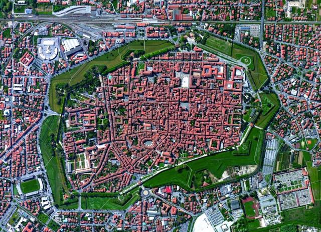 Lucca Tuscany Italy Image Courtesy of Digital Globe