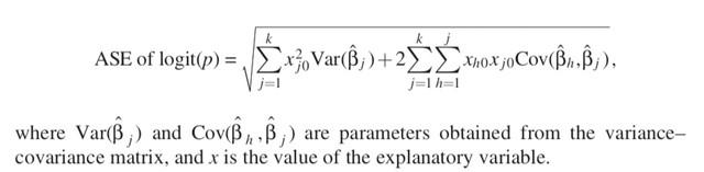 Asymptotic standard error of logit