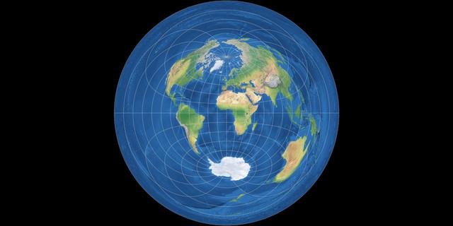 azimutal equidistant equator
