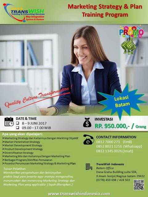 training Marketing-Strategy_Batam - TransWISH Indonesia-Promo Training Batam