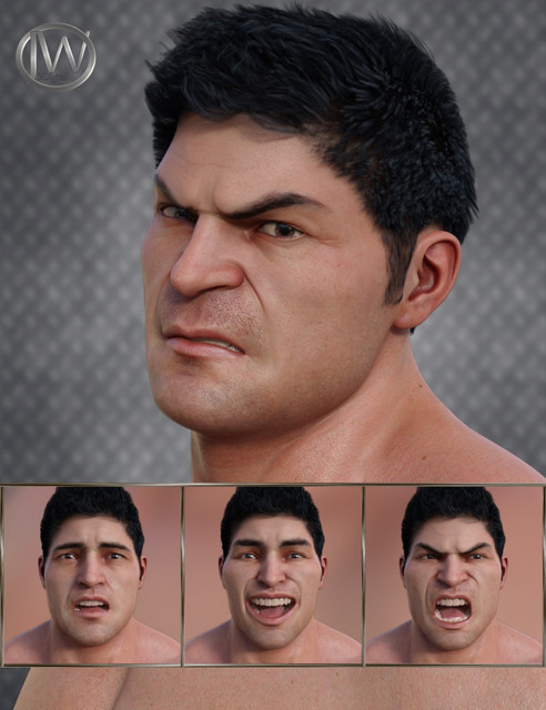 Strong Man - Expressions for Genesis 8 Male and The Brute 8