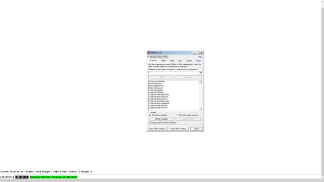 Screen shot of mIRC dialog with Windows Display Scaling at 100%