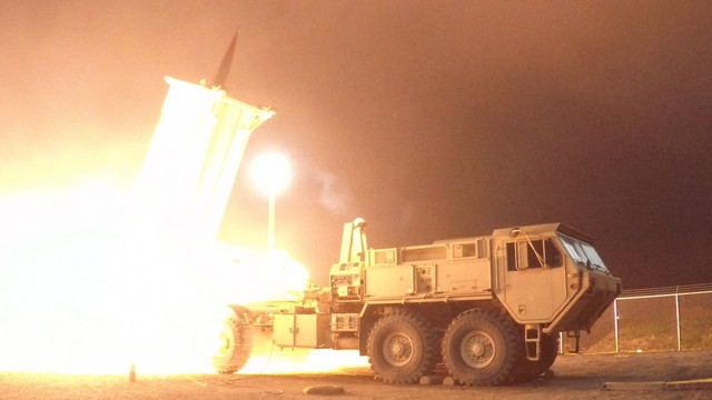 A Terminal High Altitude Area Defense THAAD interceptor is launched from the Pacific Spaceport Compl