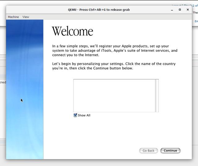 E-Maculation • QEMU 10 0 welcome setup error