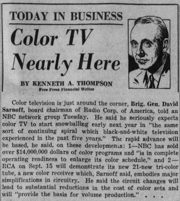 Detroit Free Press Wed Sep 1 1954