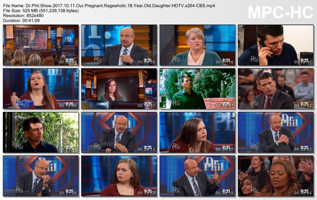 Dr Phil Show 2017 10 11 Our Pregnant Rageaholic 18 Year Old Daughter HDTV x264-CBS
