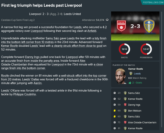 Liverpool Semi Win