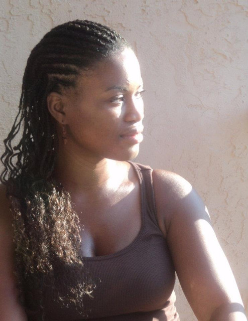 African American hair braided into cornrows using wet and wavy human hair. It's best to add hair as you go to give hair a thicker longer look.