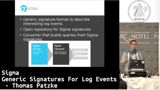 Sigma - Generic Signatures for Log Events