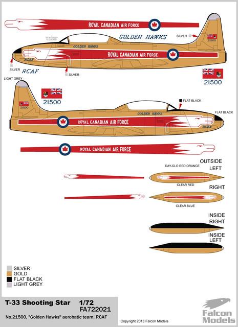 1:72 T-33A Shooting Star CIFAS-328 Armee de l/'Air 1971