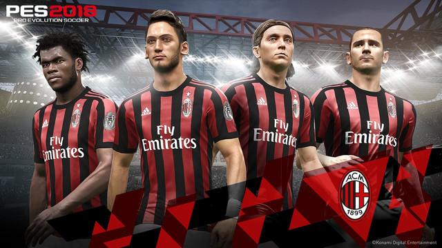 PES 2018: Konami y el AC Milan anuncian un Partnership Global