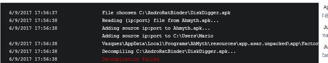 error Ahmyth