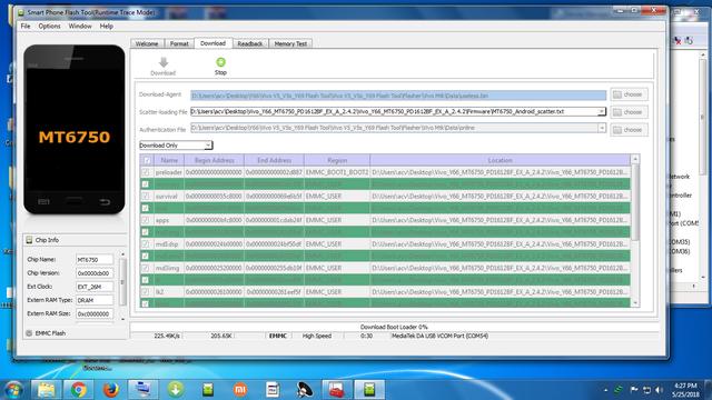 Vivo V5/V5s/Y69/Y66 [Dead Recover Pattern Lock Demo] Flash Tool on