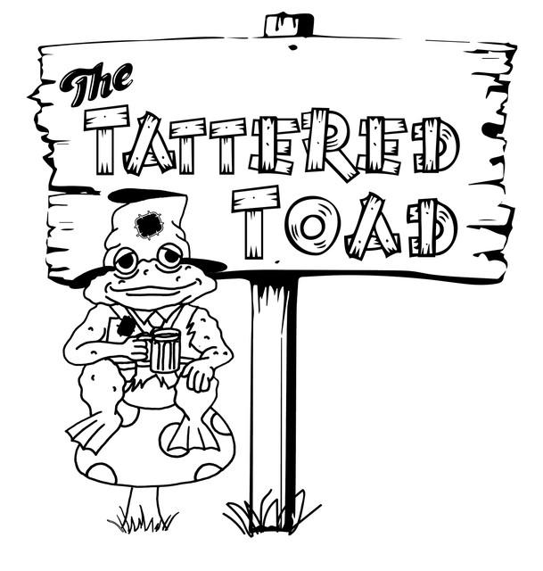 Tathered_Toad_Logo_JPEG_Black_N_White_2