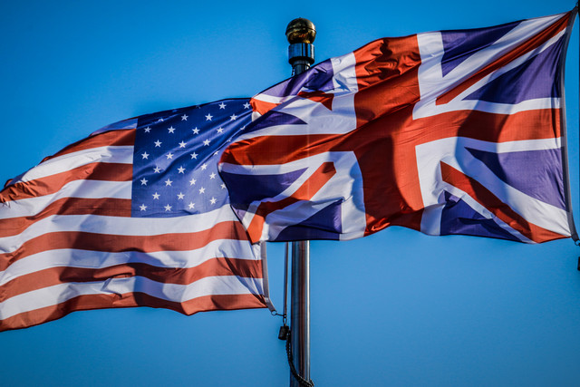 American_and_British_Flag