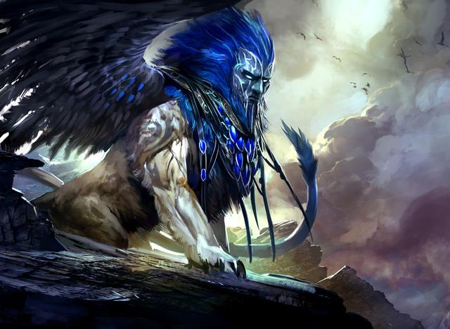 3 Sphinx Lammasu