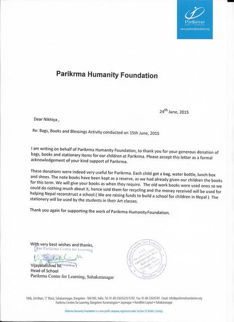 Parikrma to Nikhiya B3 24 6 2015