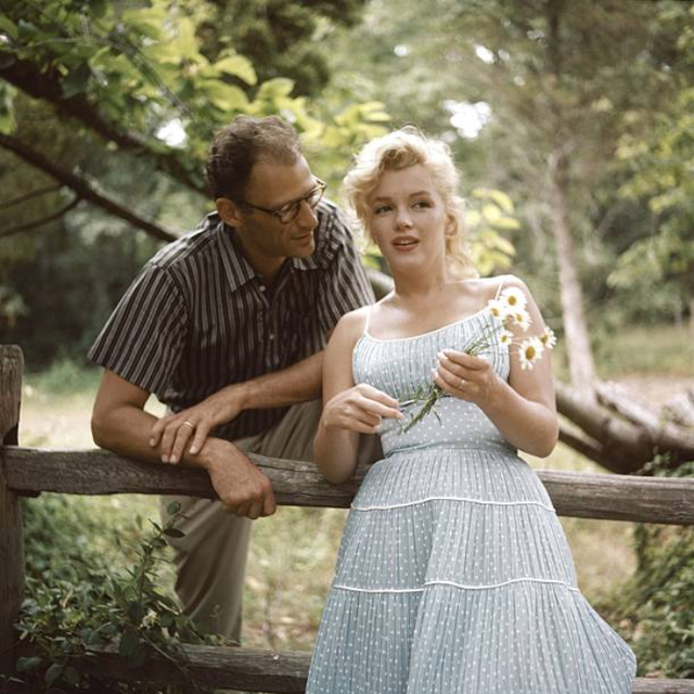Marilyn Monroe and Arthur Miller photographed by Sam Shaw 1957 2