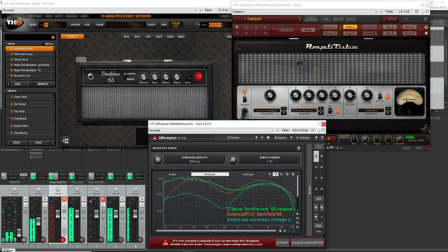 How good amp sim emulate real circuits? Amplitube '65 Twin reverb vs