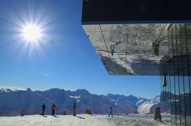 Skilift op wintersport Oostenrijk