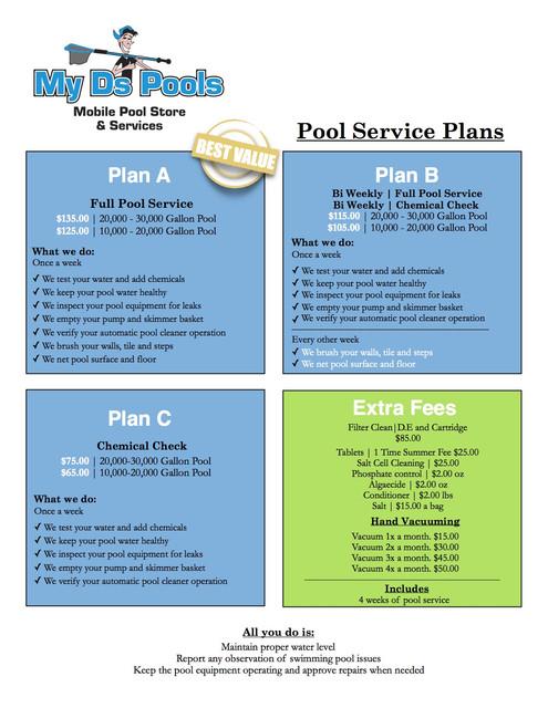 Pool Service Plans