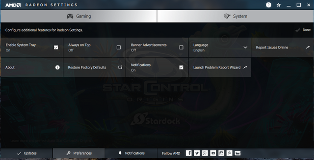 radeon settings 3