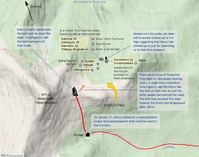 Dyatlov Pass map