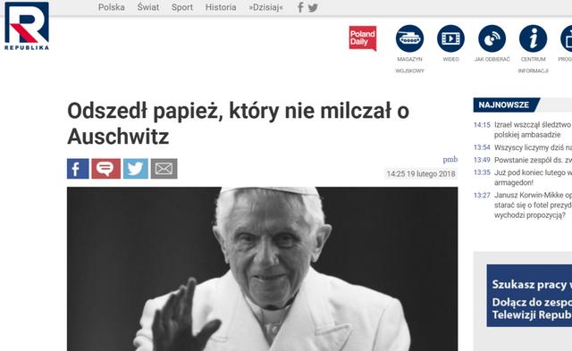 Odszed_papie_kt_ry_nie_milcza_o_Auschwitz_Telewizja_Republika