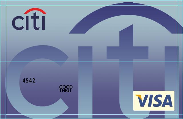 citi bank credit card visa psd template free psd template