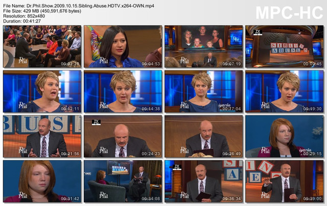 Dr Phil Show 2009 10 15 Sibling Abuse HDTV x264-OWN mp4