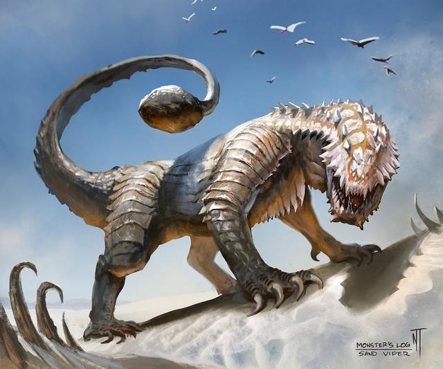 3 Sand Lizard Desert Drake