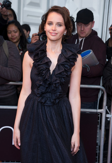 Felicity Jones attends the Glamour Women of the Year Red Carpet Arrivals at Berkley Square Gardens i